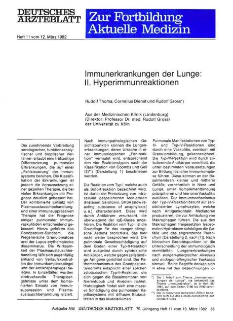 Immunerkrankungen der Lunge