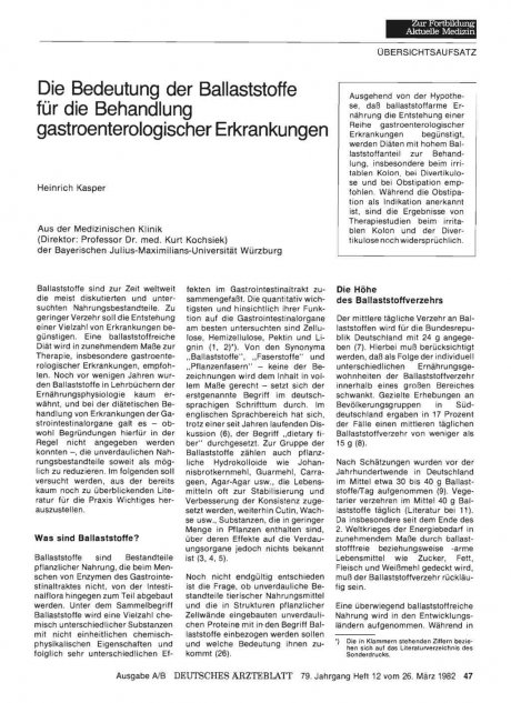 Die Bedeutung der Ballaststoffe für die Behandlung...