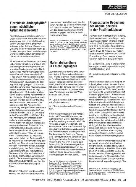 Prognostische Bedeutung der Angina pectoris in der...