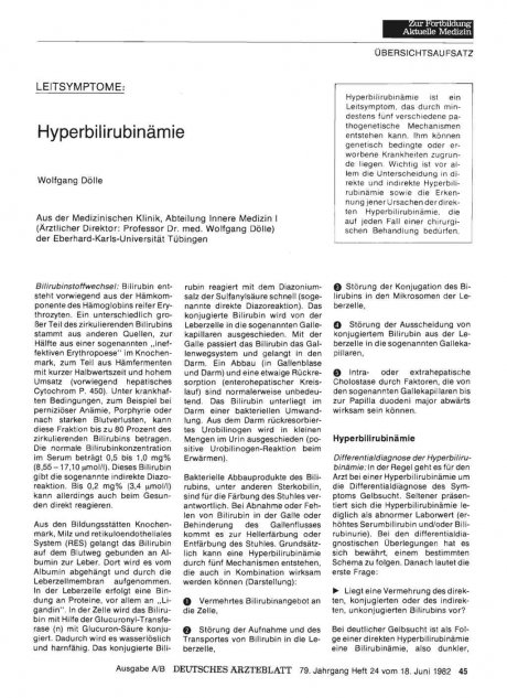 Hyperbilirubinämie