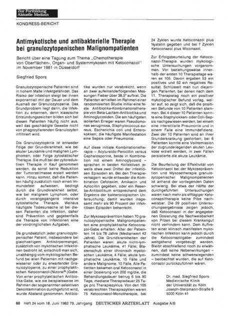 Antimykotische und antibakterielle Therapie bei...