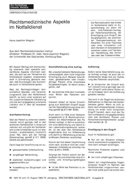 Rechtsmedizinische Aspekte im Notfalldienst