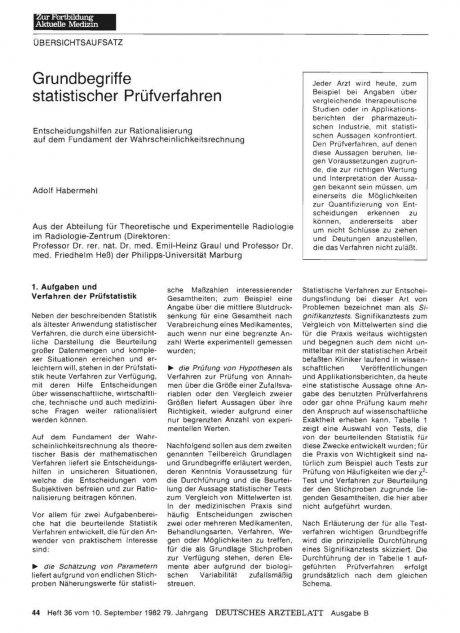 Grundbegriffe statistischer Prüfverfahren