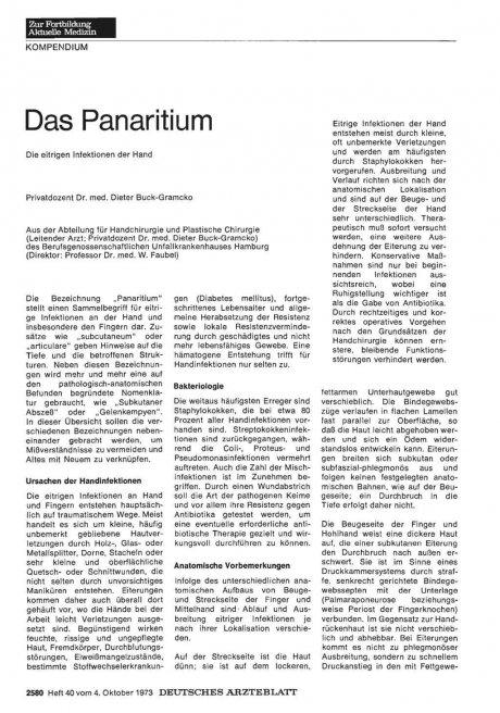 Das Panaritium