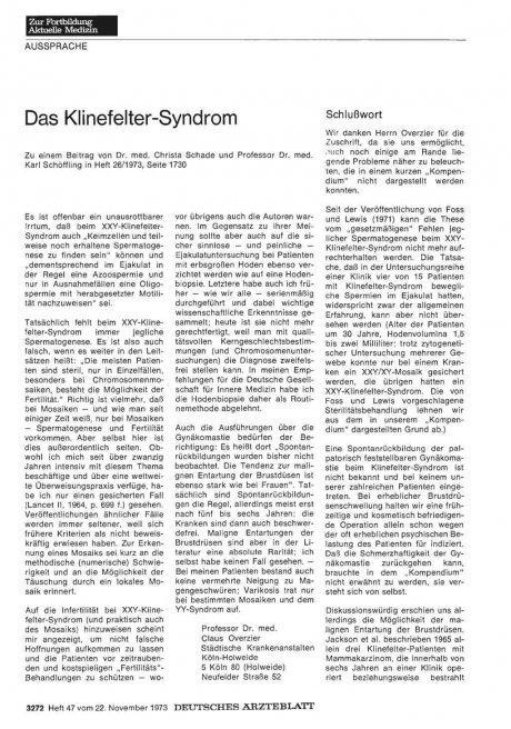 Das Klinefelter-Syndrom