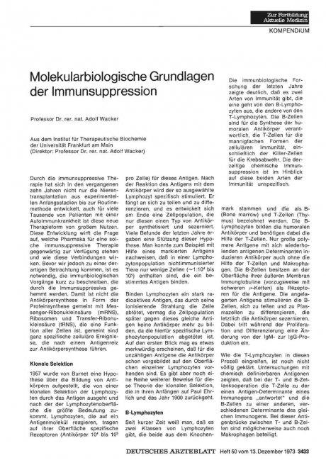 Molekularbiologische Grundlagen der...