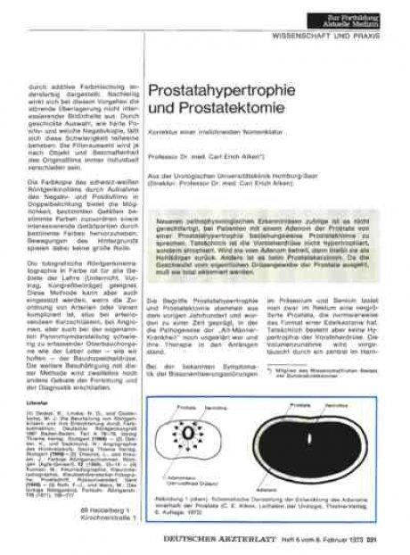 Prostatahypertrophie und Prostatektomie