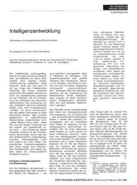 Intelligenzentwicklung