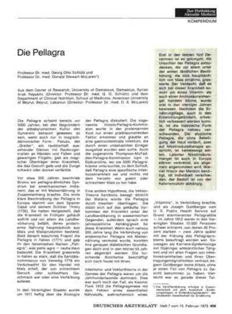 Die Pellagra