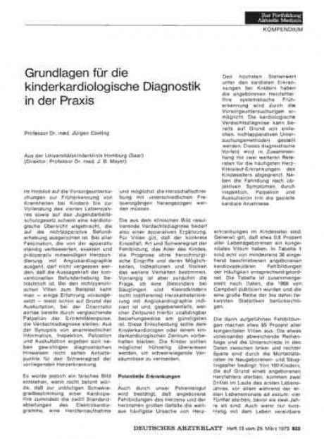 Grundlagen für die kinderkardiologische Diagnostik...