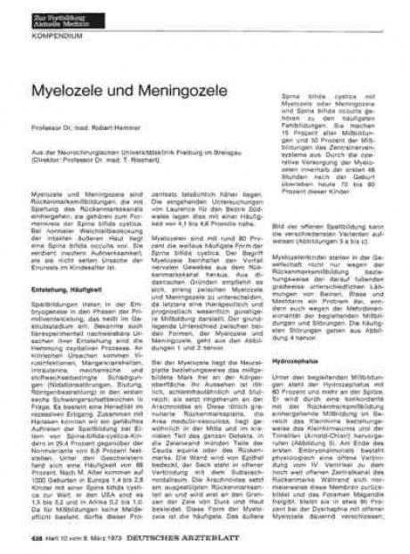 Myelozele und Meningozele