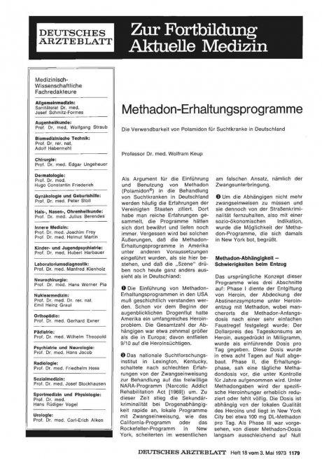 Methadon-Erhaltungsprogramme