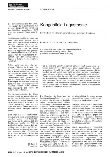 Kongenitale Legasthenie