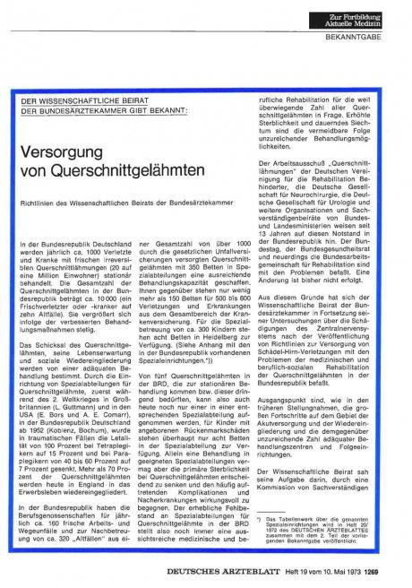 Der Wissenschaftliche Beirat der Bundesärztekammer...