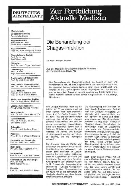 Die Behandlung der Chagas-Infektion