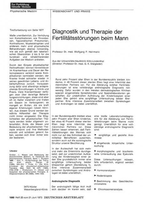 Diagnostik und Therapie der Fertilitätsstörungen...