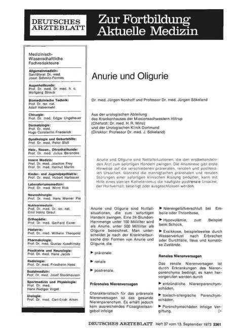 Anurie und Oligurie