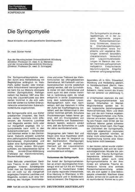 Die Syringomyelie