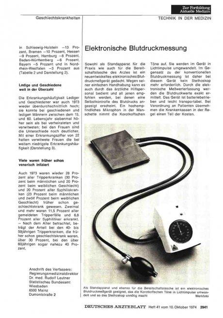 Elektronische Blutdruckmessung