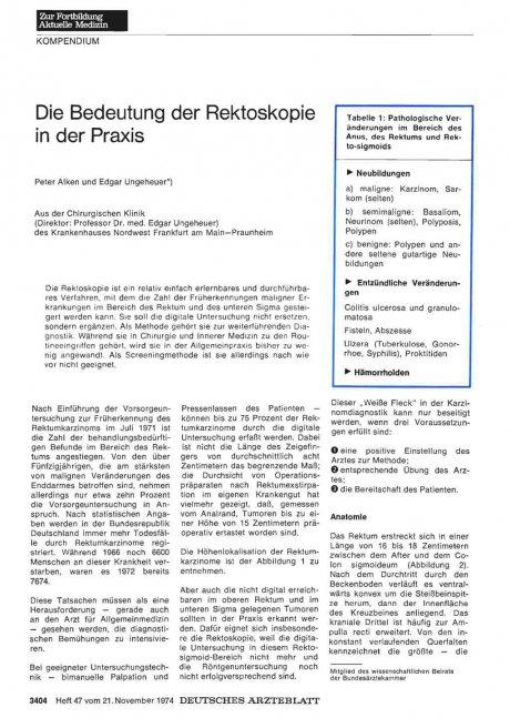 Die Bedeutung der Rektoskopie in der Praxis