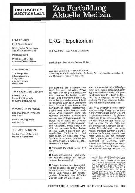 EKG- Repetitorium