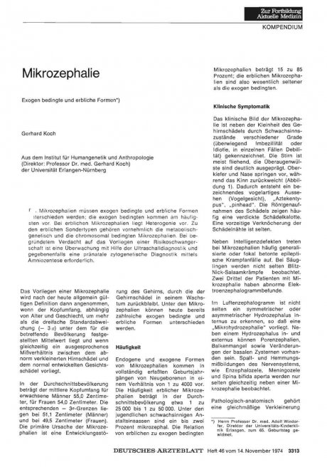 Mikrozephalie: Exogen bedingte und erbliche Formen