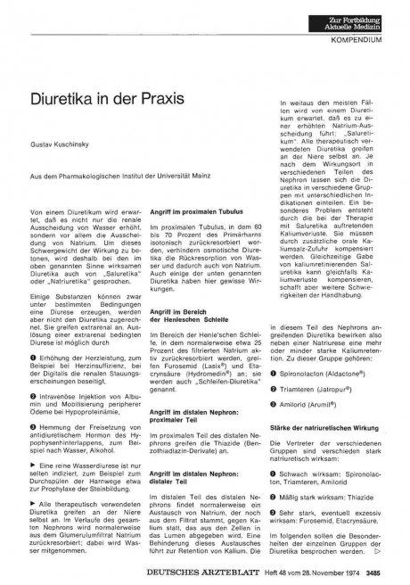 Diuretika in der Praxis