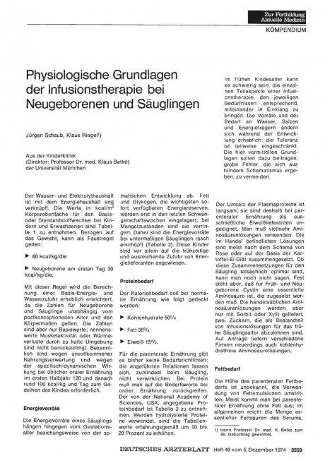 Physiologische Grundlagen der Infusionstherapie...