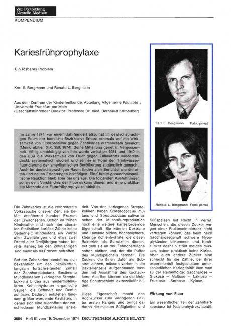 Kariesfrühprophylaxe: Ein lösbares Problem