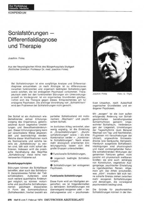 Schlafstörungen — Differentialdiagnose und...