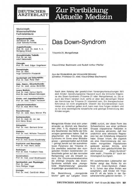 Das Down-Syndrom
