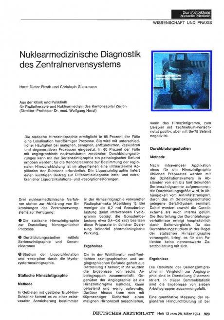 Nuklearmedizinische Diagnostik des...