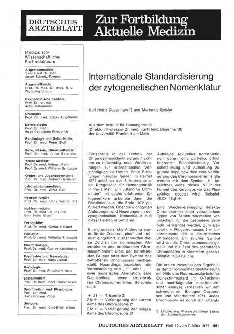 Internationale Standardisierung der...