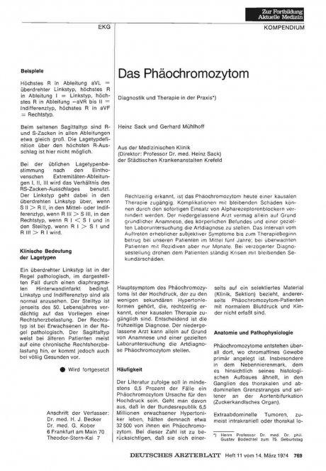 Das Phäochromozytom