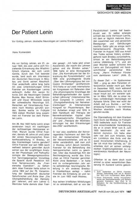 Der Patient Lenin
