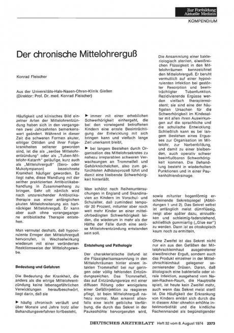 Der chronische Mittelohrerguß