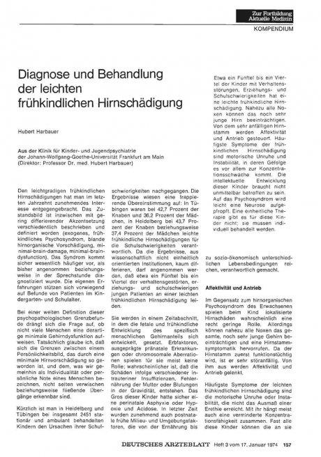 Diagnose und Behandlung der leichten...