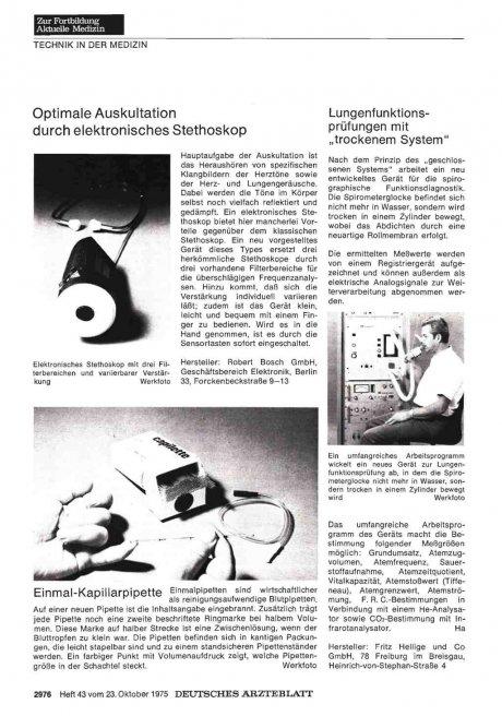 Optimale Auskultation durch elektronisches Stethoskop
