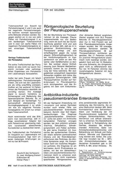 Antibiotika-induzierte pseudomembranöse...