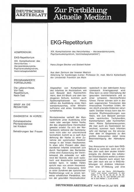 EKG-Repetitorium