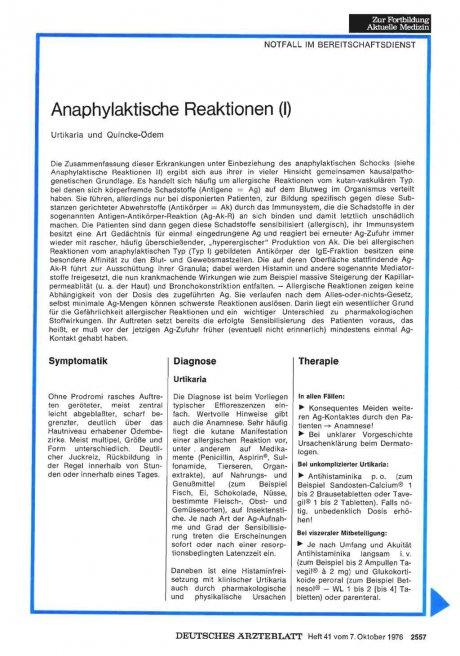Anaphylaktische Reaktionen (1)