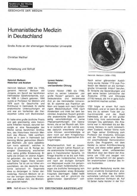 Humanistische Medizin in Deutschland