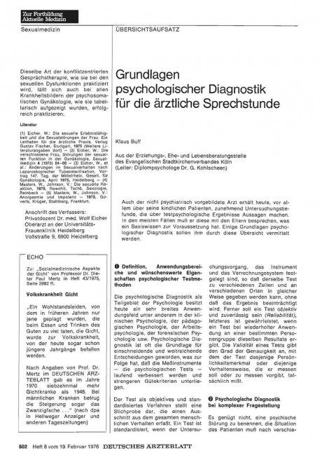 Grundlagen psychologischer Diagnostik für die...