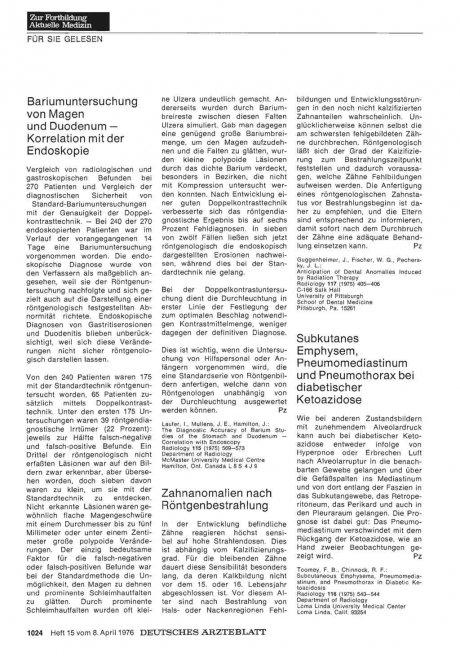 Bariumuntersuchung von Magen und Duodenum —...