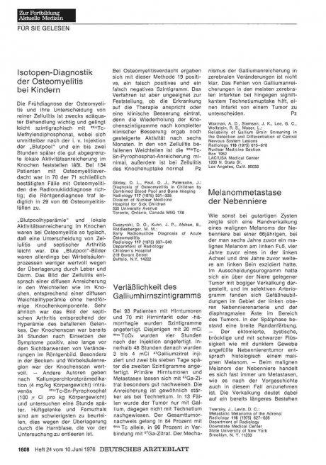 Melanommetastase der Nebenniere