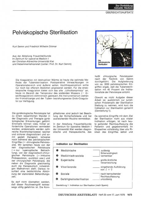 Pelviskopische Sterilisation