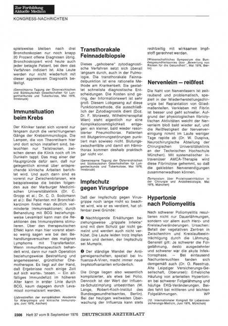 Transthorakale Feinnadelbiopsie