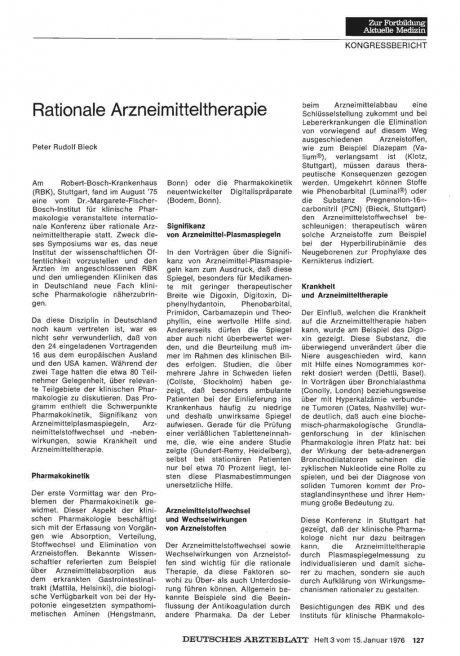 Rationale Arzneimitteltherapie