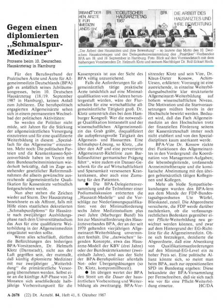 """Gegen einen diplomierten """"Schmalspur-Mediziner"""""""