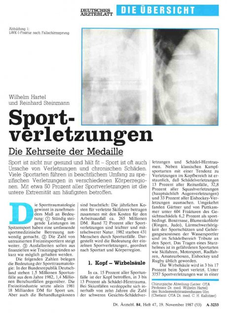 Sportverletzungen: Die Kehrseite der Medaille